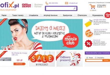 Ofix.pl – projekt strony, nazwy, logo oraz wykonanie banerów flash