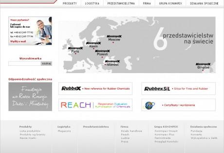 Konimpex – projekt graficzny i wdrożeniu strony www w oparciu o platformę CMS