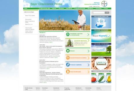 Strona korporacyjna Bayer CropScience – projekt, wdrożenie, administracja