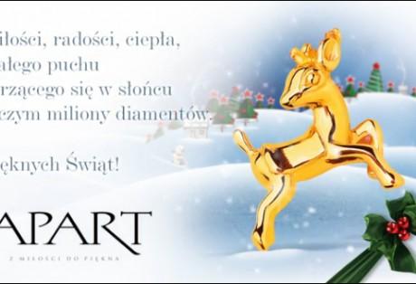 Apart – spot świąteczny – kreacja contentu graficznego na potrzeby sieci digital signage