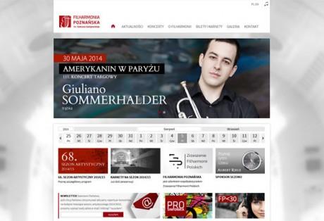 Filharmonia Poznańska – wizerunek, projekt graficzny i wykonanie strony www wraz z dedykowanym panelem administracyjnym