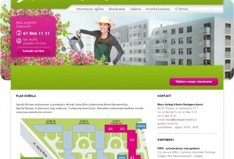 Ogrody Różane – projekt graficzny i wdrożenie strony www w oparciu o dedykowany panel zarządzania treścią