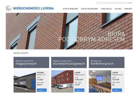 Luvena (nieruchomości) – projekt graficzny i kodowanie strony www