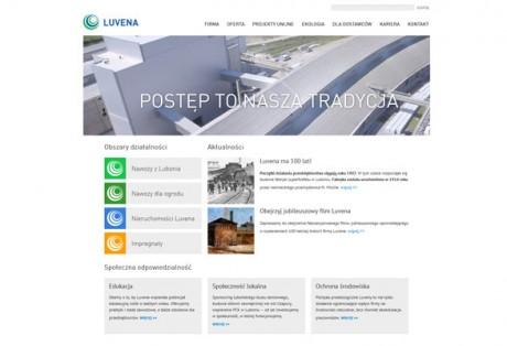Luvena – projekt graficzny i kodowanie strony www