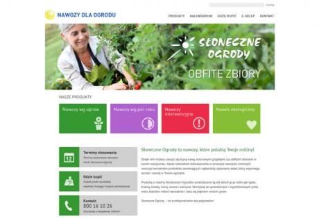 Luvena (nawozy ogrodnicze) – projekt graficzny i kodowanie strony www