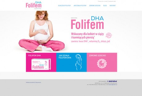 Folifem – projekt graficzny i kodowanie minisite'u produktowego