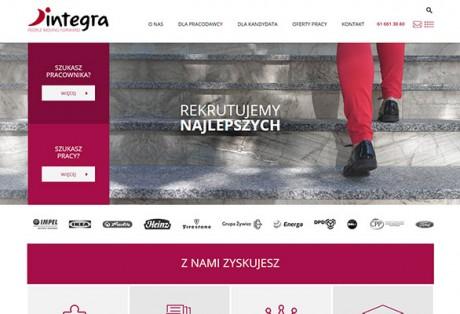Integra Consulting Poland (rekrutacje) – projekt graficzny i wdrożenie serwisu www w oparciu o platformę CMS